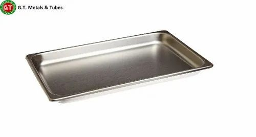 GT METAL Stainless Steel SS Tray, For Hospital,Laboratory, Shape: Rectangle