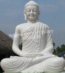 White Marble Buddha God Statues