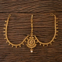 Antique Matte Gold Plated South Indian Damini 202363