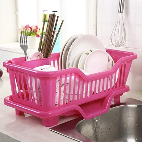 Kitchen Sink Dish Plate Drainer Drying Rack Washing Organizer Tray Holder Basket