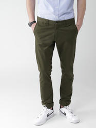 Comfort Green Men Trouser