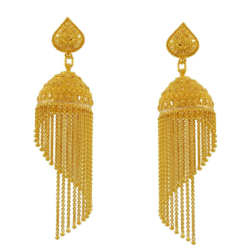 Male Dangle Gold Earrings