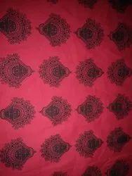 Regular Red Reka Export Cotton Unstitched Salwar Material Printed Fabric, GSM: 50-100, Machine wash