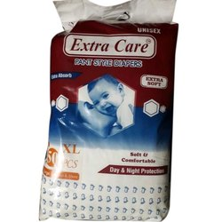 Cotton Extra Care Baby Diaper, Packaging Size: 50 Pieces, Size: Xl