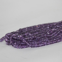 Natural Amethyst Smooth Rondelle Beads