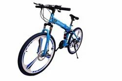 Land Rover Blue Foldable Cycle
