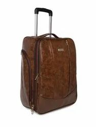 BagsRUs Faux Leather 52 cms Chocalate Brown Softsided Carry-On Laptop Cabin Trolley Bag