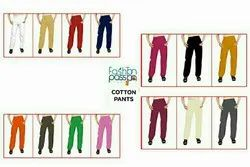 Women Slim Fit Cotton Pants