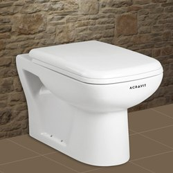 Acravit White Mozart Floor Mounted E.W.C. S/P Trap Toilet Seat, For Home,Hotel