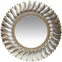 Iron Round Wall Mirror, Packaging Type: Box