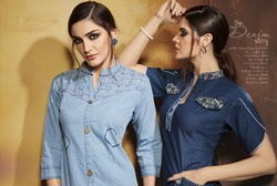 Designer Short Denim Kurtis