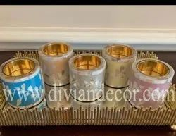 Mini Bakhoor Bone Inlay Candle Holder
