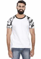 Men Lycra Cotton Raglan T Shirt