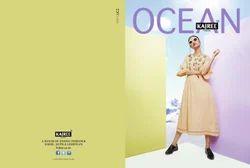 Designer Ocean Khadi Kurtis