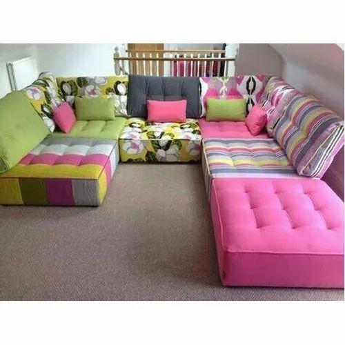 Sofa Set Size: Multicolor Wooden Kids Foam Sofa, Size/Dimension: Large