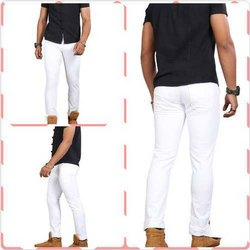 White Slim Fit Mens Jeans