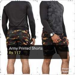 Mens Army Printed Shorts