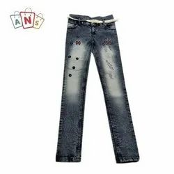 Embroidery Kids Trendy Stretchable Jeans