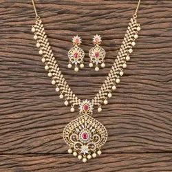 CZ Classic Necklace With Gold Plated 407131