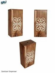 wood box automatic hand sanitizer dispenser