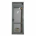 White Aluminium Hinged Bathroom Door