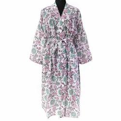 Hand Block Printed Nightgown Long Kaftan