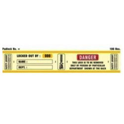 Labels Padlocks SH-PLL-R-D2