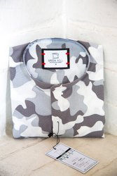 Printed Camouflage Half Sleeve Men Casual Cotton Shirt