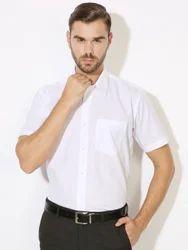 Mens Standard Formal White Shirts