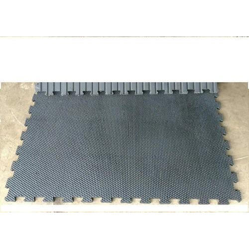 Black Connecting Rubber Stable Mat Rs Piece Tanush Trading - Rubber connecting floor mats