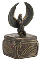 Egyptian Goddess ISIS Square Trinket Box