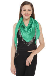 Green Colour Triangle Scarves