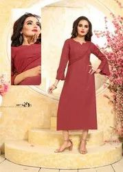 Purple-Play Store Latest Moti Work Designer Kurtis