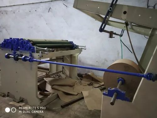 Semi Roll Feeding Paper Bag Making Machine