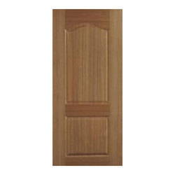 Brown Teak Wood Two Panel Door, Size: 7 X 3 feet
