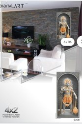 Multicolor 3D God Picture Wall Tile, Thickness: 8 - 10 mm