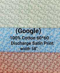 Cotton Discharge Satin Print Fabric (Google)