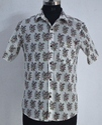 Casual Half Sleeve Booti Print Shirt Hand Block Printed Cotton Indain