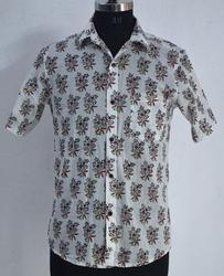Booti Print Shirt Hand Block Printed Cotton Indain