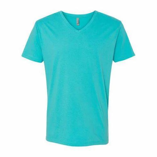 5c947338f2e2 V-neck Sea Green Mens Plain T-Shirt, Rs 110 /piece, Siniga ...
