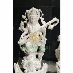 Lord Saraswati Mata Marble Statue