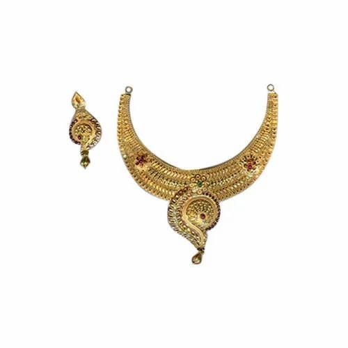 2b64984923810 Gold Necklace Set - Gold Hasli Necklace Set Manufacturer from Mumbai