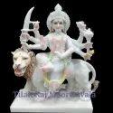 Durga Maa White Marble Statue