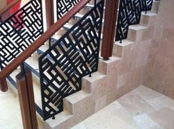 Stairs Panel Laser Cutting Railing, For Home