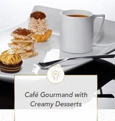 Cafe Gourmand With Creamy Dessert