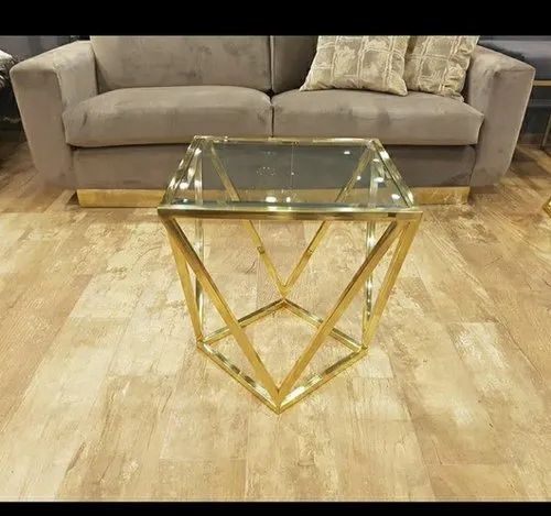 Golden Square Brass Coffee Table Rs 5 Piece M S Metal Crafts
