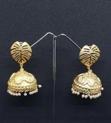 Gold Plated Jhumka Earrings