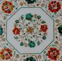 Home Decorative White Marble Inlay Table Top