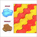 PVC Moulds for Paver Blocks - COSMIC - 60MM - CHEX