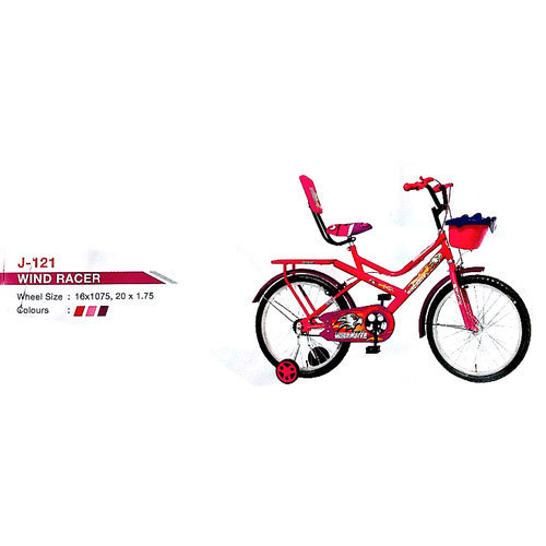 0639f68659b Jyoti Pink and also available in red and maroon Printed Saddle Kids Bicycle,  Wind Racer